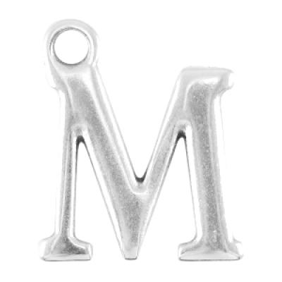 Letter M - Antiek Zilver (nikkelvrij)