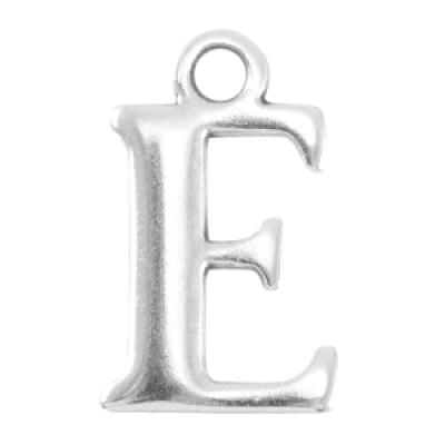 Letter E - Antiek Zilver (nikkelvrij)