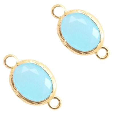 Blue Opal - gold