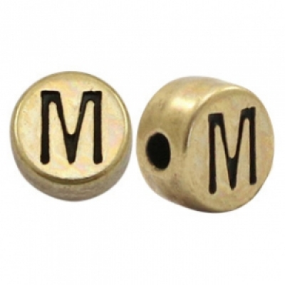 Letter M -Goudmetaal - 7 mm