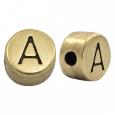 Letter A -Goudmetaal - 7 mm