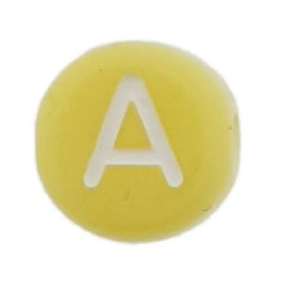 Letter A -Geel - 7 mm