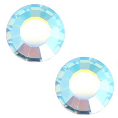 Flat back - SS34 - 7 mm - Aquamarine Blue