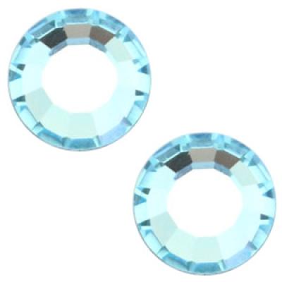 Flat back - SS30 - 6.4 mm - Aquamarine Blue