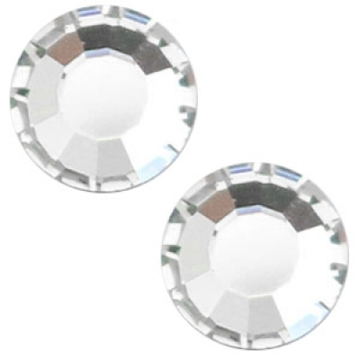 Flat back - SS30 - 6.4 mm - Silver Shade
