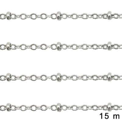Jasseron - 2 mm - zilver - per meter