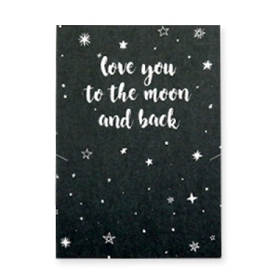 Sieradenkaartje - Love you to the moon and back