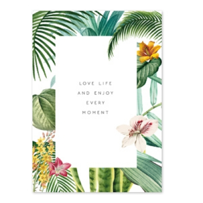 Sieradenkaartje - Love life and enjoy